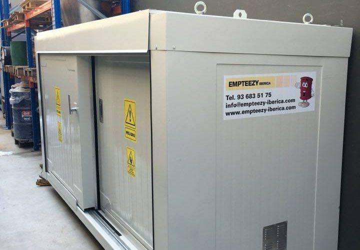 Opslag organische peroxides – 3 meter 1 niveau brandwerende container