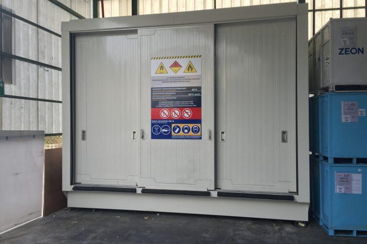 Opslag organische peroxides – 6 meter brandwerende container voor binnen opslag van organische peroxides