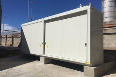 Opslag autobatterijen | Opslag vloeistoffen | Brandwerende container